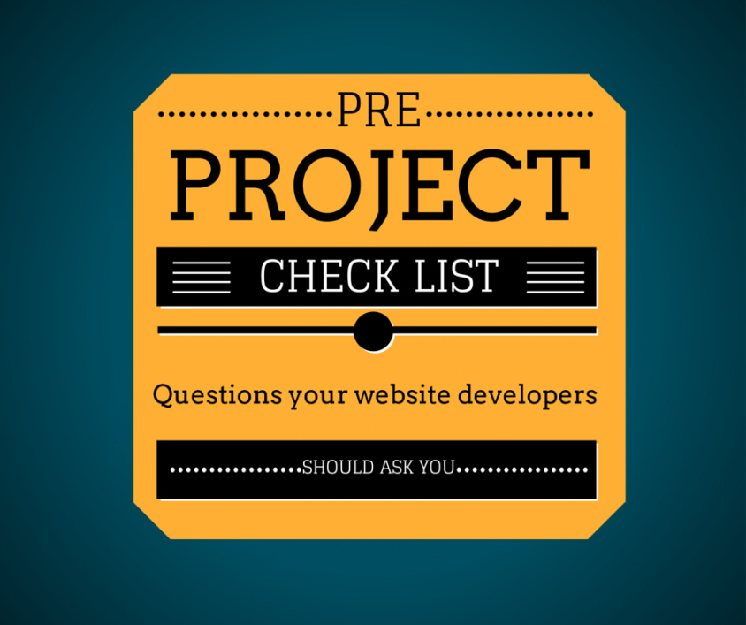 Pre-Project Check list for web projects