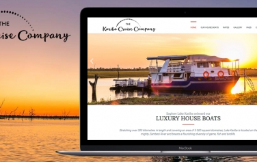 Website and branding design of Kariba Cruise Company